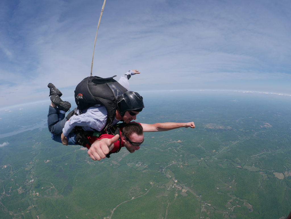 Best tandem Skydiving near Nashville Tennessee at Music City